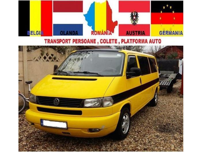 Transport Colete si Platforma Auto Romania Germania Austria Belgia Olanda - 1/4