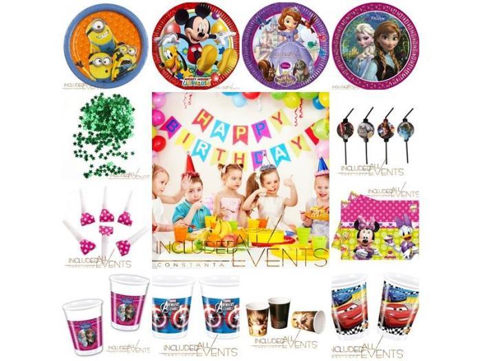 Accesorii si articole tematice petreceri copii Constanta 0728955745 - 1/2