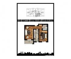 Apartament 2 camere, decom, 51mp, Militari Rezervelor