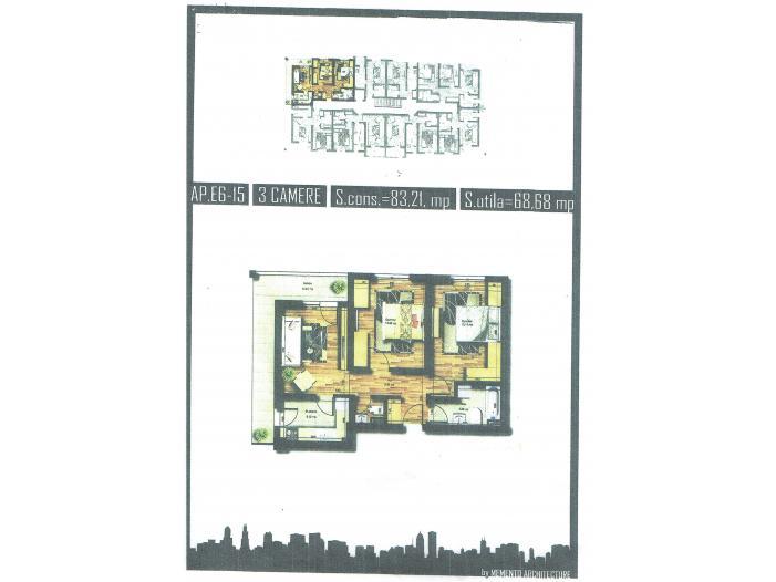 Oferta Apartament 3 camere, 69mp, Militari Rosu - 3/5