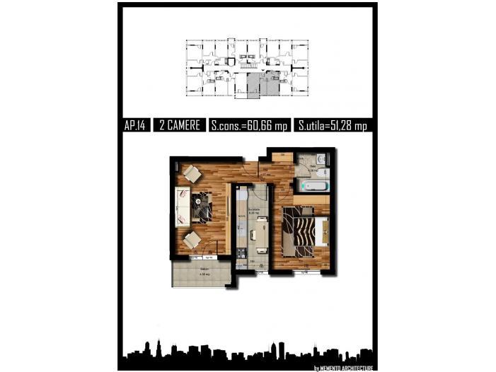 Apartament 2 camere, decom, 51mp, Chiajna Militari - 4/5