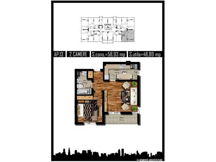Apartament 2 camere, decom, 49mp, Militari Rezervelor - 4/5