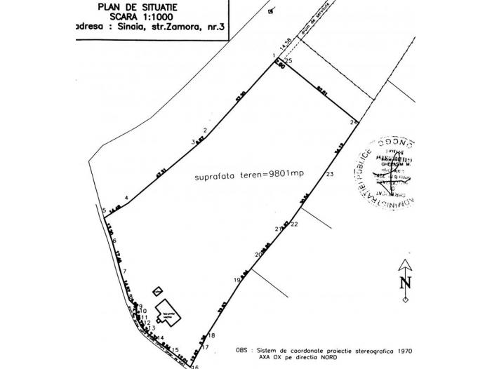OCAZIE, Proprietar vand teren Cumpatu - Sinaia 9801 mp - 2/3