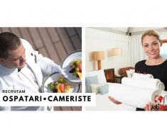 CAMERISTE/OSPATARI- Cazare masa transport gratis