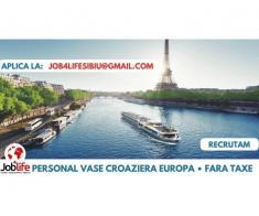 OSPATARI AJUTOR BUCATARIE PE VASE DE CROAZIERA (Facilitati incluse)
