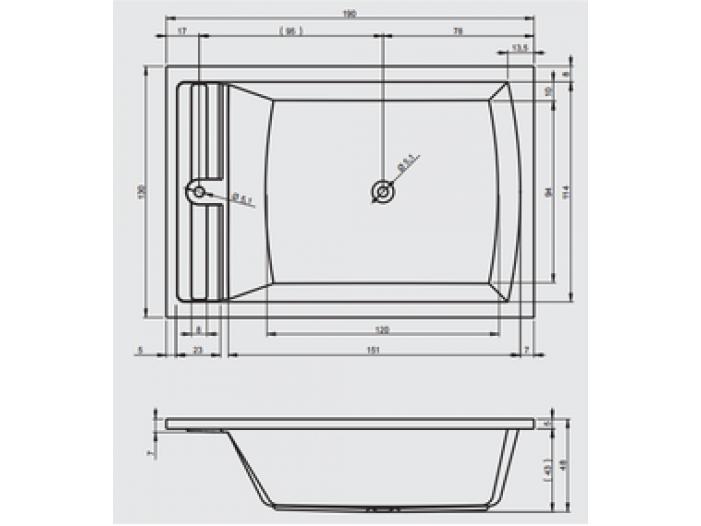 cada baie dubla 190x130 cm - 4/5