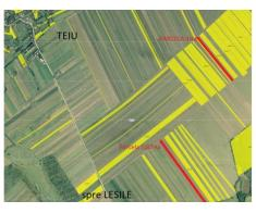 Vand teren agricol 1.87Ha, Teiu, Arges, 2 parcele, cadastru