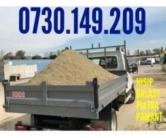 Vand /Transport nisip, balast, pietris, pamant negru vegetal, gunoi