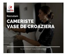 CAMERISTE VASE CROAZIERA de la 1300 euro NET + CAZARE/TRANSPORT/MASA