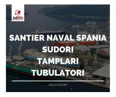 SUDORI TUBULATORI TAMPLARI santier naval SPANIA 2300 EURO + CAZARE SI TRANSPORT