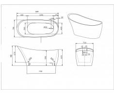 cada baie ovala freestanding