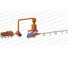 Linie brichetare brichete 400-500 kg/ora cu diametrul de 65-70mm din paie