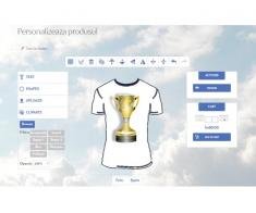 Platforma online de personalizare produse textile