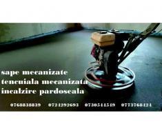 sape mecanizate | tencuiala mecanizata | incalzire pardoseala