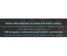 Pachet web hosting la doar 0,99 euro pe lună