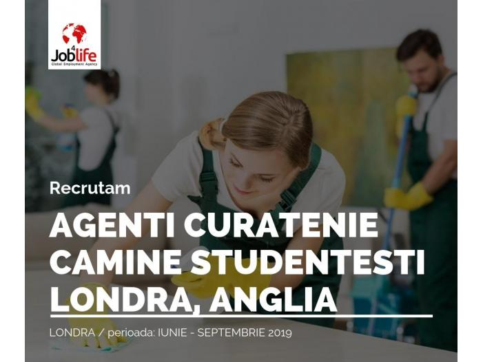 AGENTI CURATENIE - CAMINE STUDENTESTI  CONTRACT SEZONIER, LONDRA - 1/1