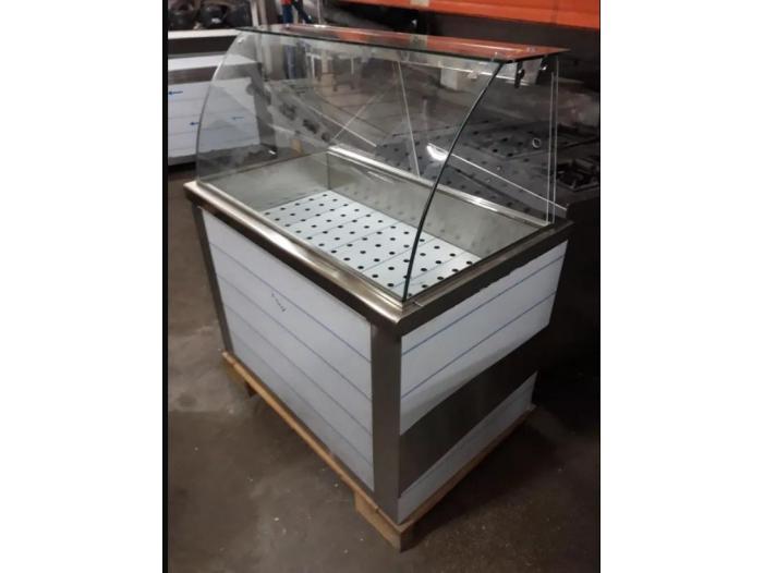 Vitrina calda inox 3 GN 1/1 pe suport pt autoservire - 1/2