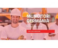 MUNCITORI NECALIFICATI SANTIERE GERMANIA de la 2300 euro net + cazare gratuita