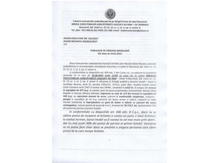 Vand urgent teren, comuna Berceni - 1/5