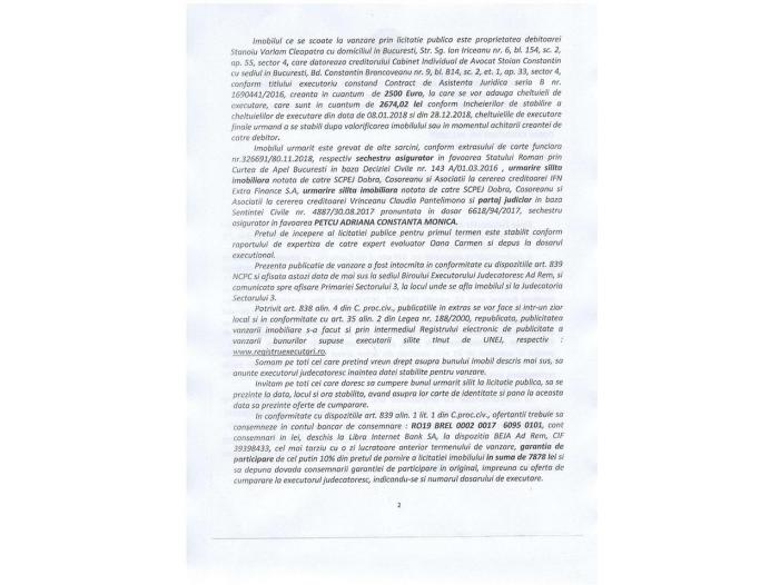 Vand urgent teren, comuna Berceni - 2/5