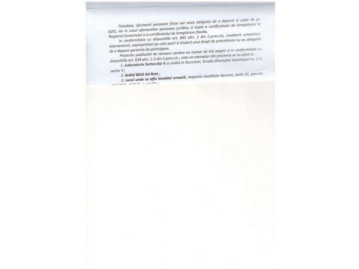 Vand urgent teren, comuna Berceni - 3/5