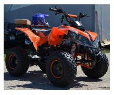 Atv Kxd Model:Warrior 125 cc/Roti de 8 Inch