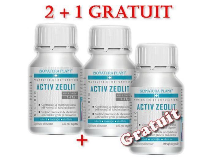 Oferta Zeolit Silicic 180 capsule 2+1 gratuit - 1/2