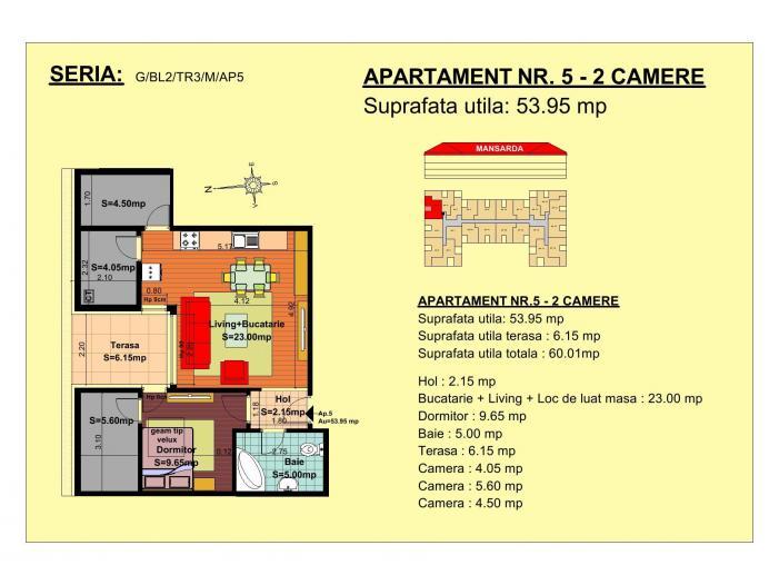 Apartament de vanzare semidecomandat - 1/1