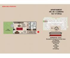 Garsoniera de vanzare ( 1 camera 37.06 mp)