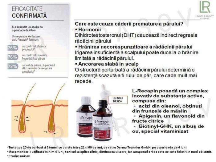 Set  L-Recapin 1+1 prevenirea căderii părului şi regenerare - 2/2