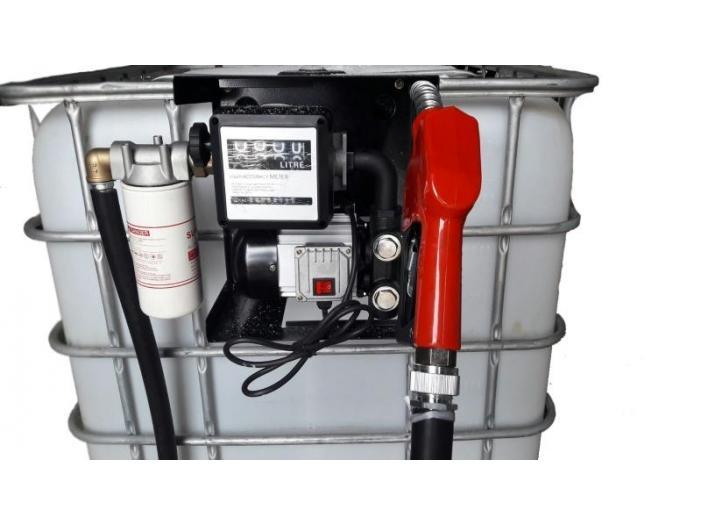 Bazin IBC 600-1000 litri cu pompa motorina - 1/1