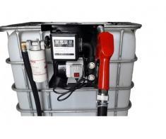 Bazin IBC 600-1000 litri cu pompa motorina