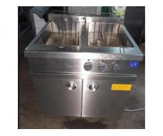 Friteusa inox electrica 2x30 litri cuve pe suport second