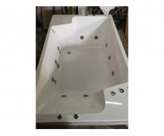 Cada baie dubla 190x120 cm cu hidromasaj, cromoterapie