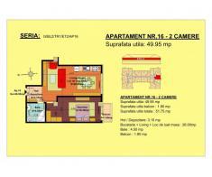 Vand apartament 2 camere, etaj 2, zona Tractorul-Brasov