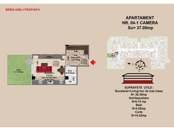 Garsoniera, Brasov, Mall Coresi, 2017, 37.0 mp - 1/3