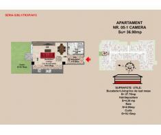 Garsoniera, Brasov, Mall Coresi, 2017, 36.09 mp