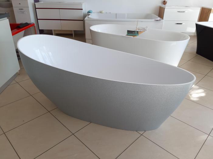 Cada baie compozit ovala freestanding mozaic - 1/4