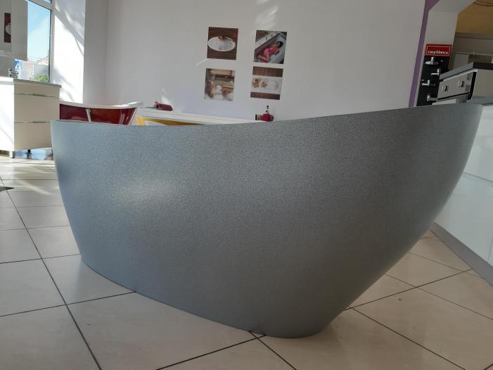 Cada baie compozit ovala freestanding mozaic - 2/4