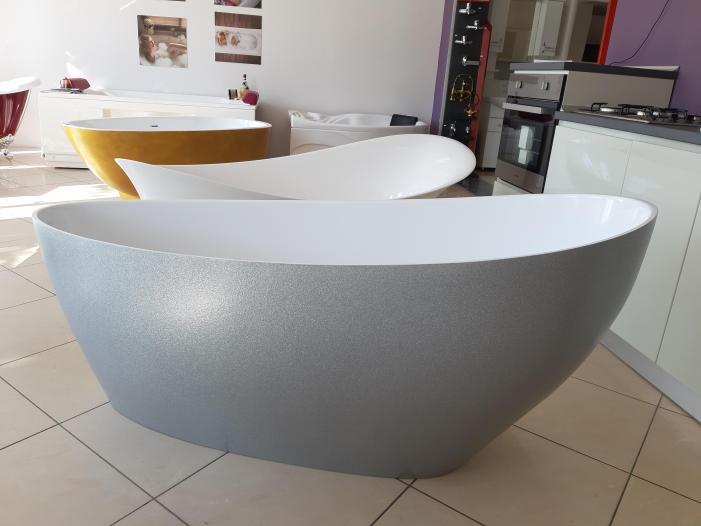 Cada baie compozit ovala freestanding mozaic - 3/4
