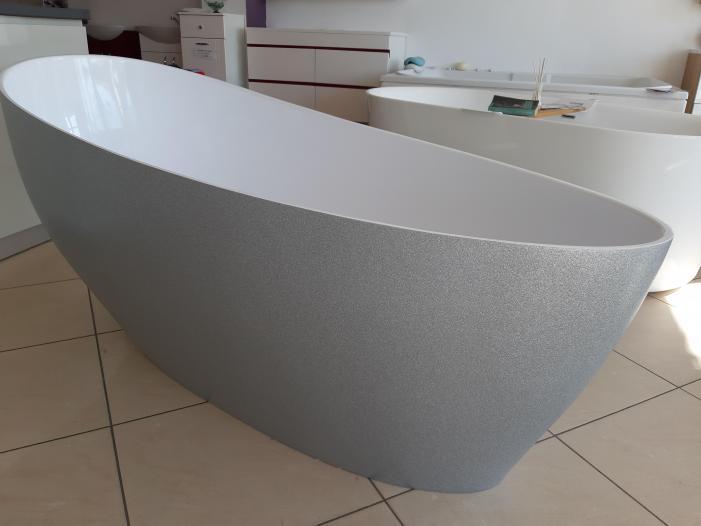 Cada baie compozit ovala freestanding mozaic - 4/4