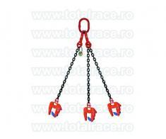 Dispozitive de ridicare din lant cu clesti pentru tuburi de beton