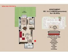 Vand apartament 2 camere, parter, zona Tractorul-Brasov.