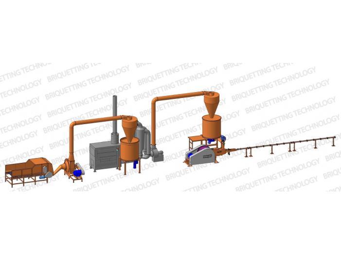Linie brichetat brichete 300-400 kg/ora din paie - 1/1
