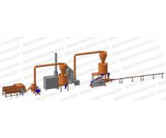 Linie brichetat brichete 300-400 kg/ora din paie