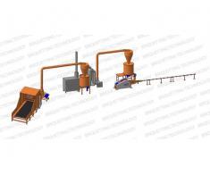 Linie brichetat brichete 400-500 kg/ora din paie
