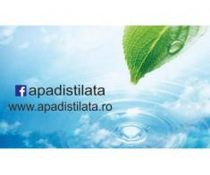 Vindem apă distilată ( obținută prin metoda distilării )