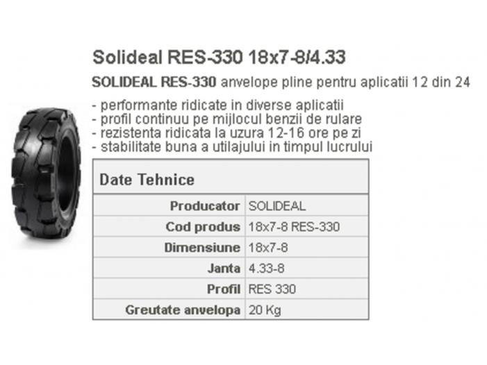 Cauciuc masiv stivuitor RES-330 18x7-8/4.33 Quick - 1/1
