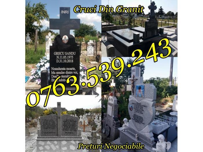 Monumente Funerare Cruci De Granit Marmura Ieftine - 3/5
