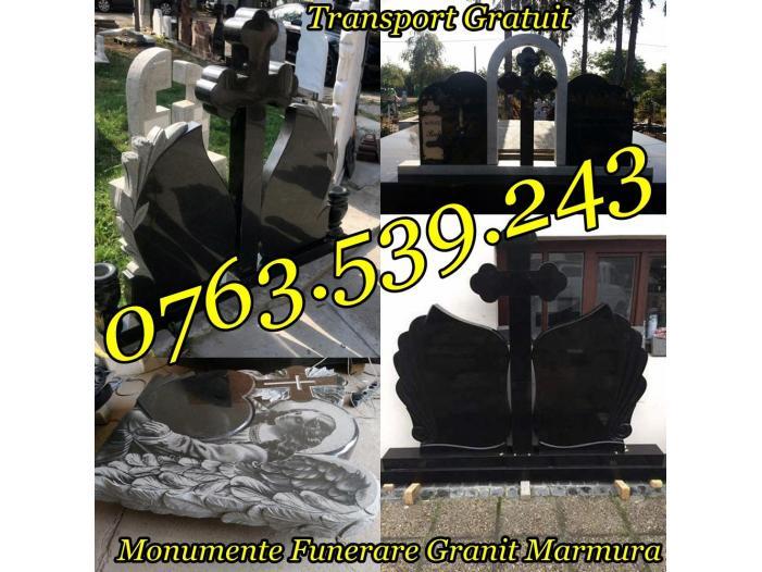 Executam Cruci De Granit Pietre Funerare Marmura Granit - 1/5